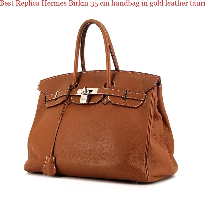 a5bc206e2074 Best Replica Hermes Birkin 35 cm handbag in gold leather taurillon clémence