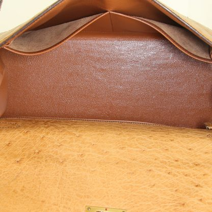 102600be47 Best Replica Hermes Kelly 32 cm handbag in gold ostrich leather ...