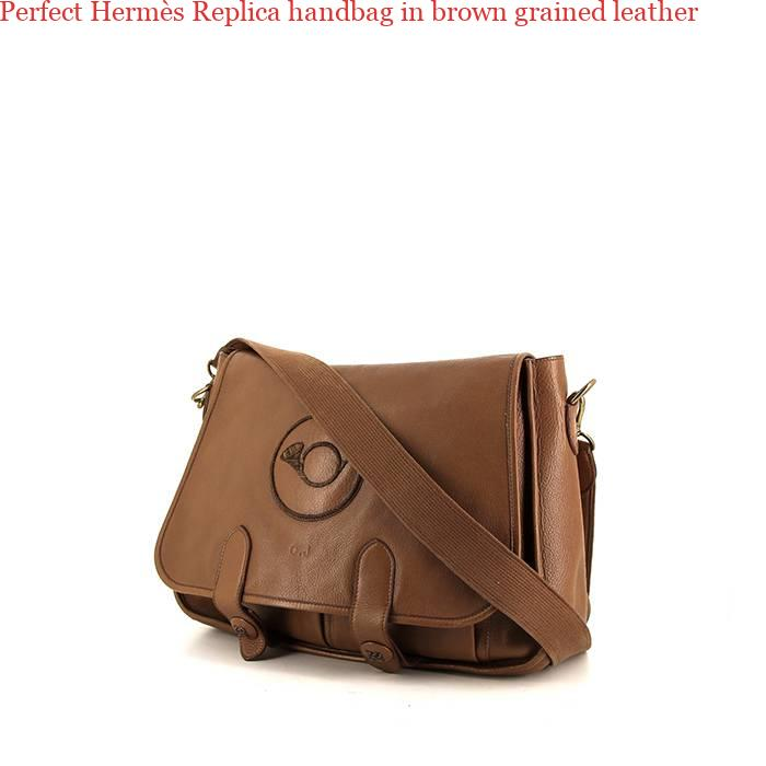 Perfect Hermès Replica handbag in brown grained leather – Hermes Belt  Replica AAA f8542af3cd4f7