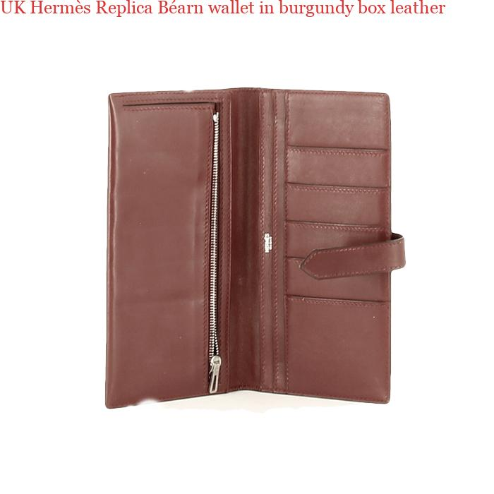 c68740157e72 UK Hermès Replica Béarn wallet in burgundy box leather – Hermes Belt Replica  AAA